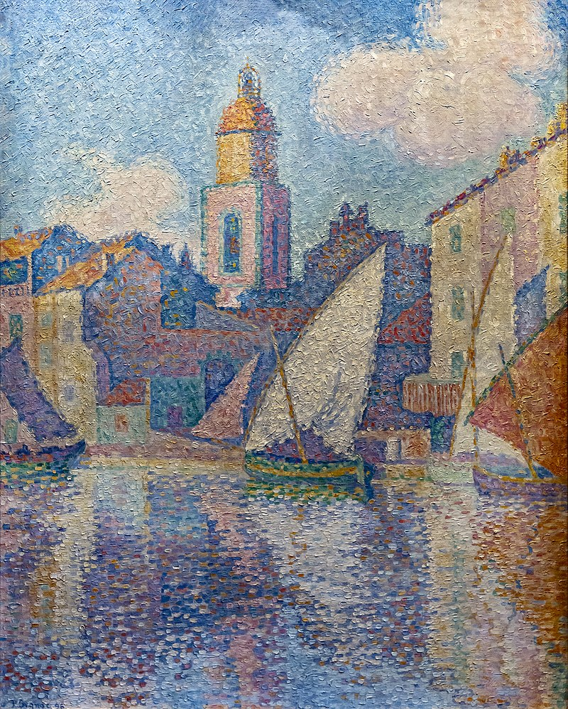 800px-Bemberg_Fondation_Toulouse_-_Le_clocher_de_Saint-Tropez_-_Paul_Signac